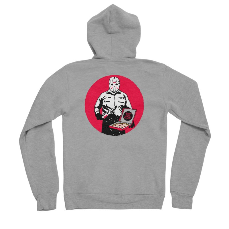 Jason's Pizza Men's Sponge Fleece Zip-Up Hoody by darruda's Artist Shop