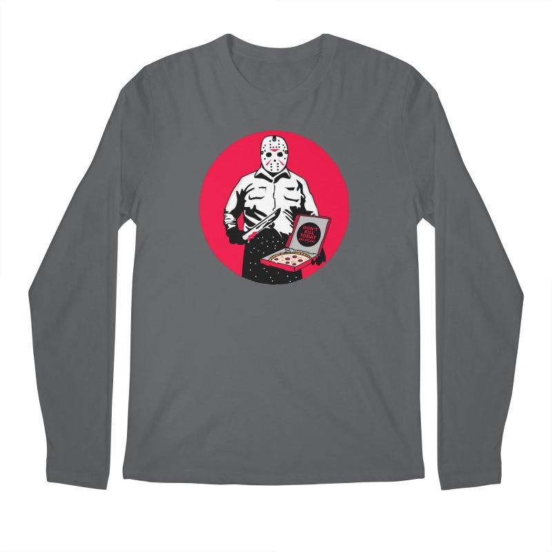 Jason's Pizza Men's Regular Longsleeve T-Shirt by darruda's Artist Shop