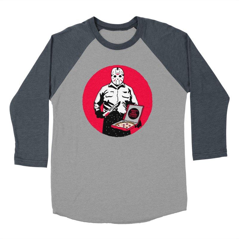 Jason's Pizza Men's Baseball Triblend Longsleeve T-Shirt by darruda's Artist Shop