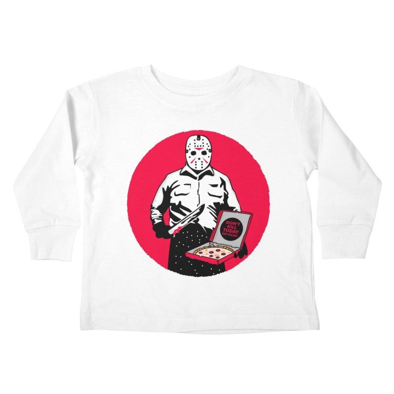 Jason's Pizza Kids Toddler Longsleeve T-Shirt by darruda's Artist Shop