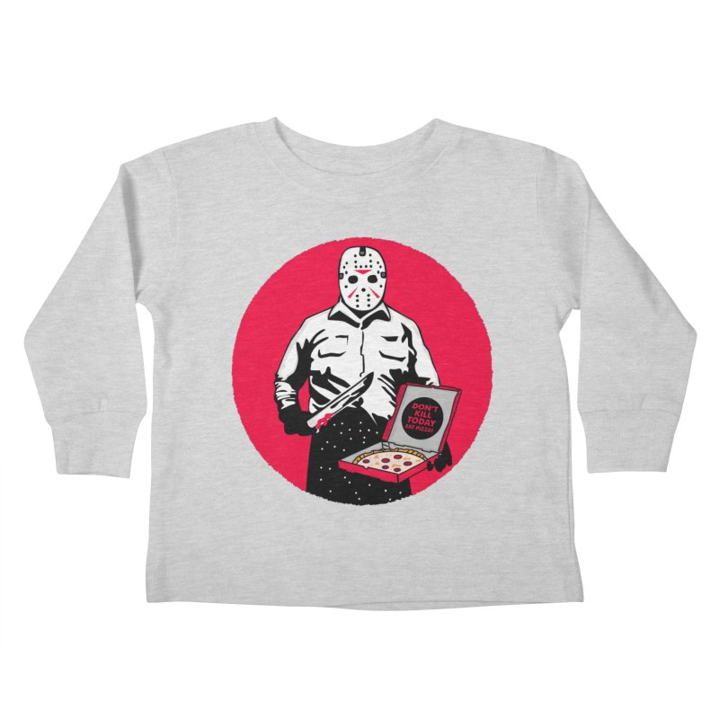Jason's Pizza Kids Toddler Longsleeve T-Shirt by darruda's Artist Shop