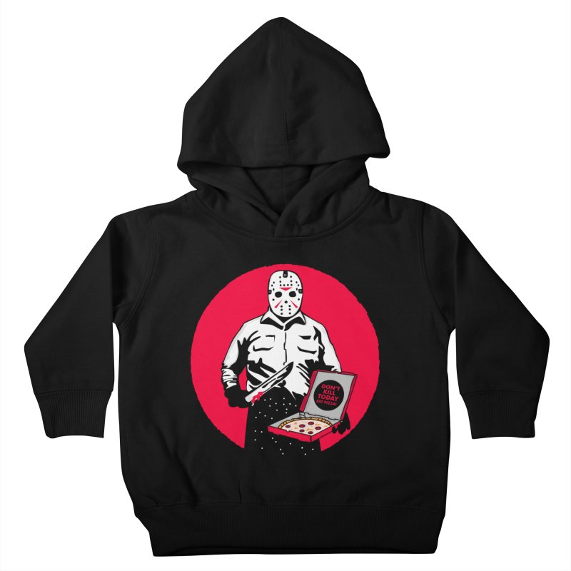 Jason's Pizza Kids Toddler Pullover Hoody by darruda's Artist Shop
