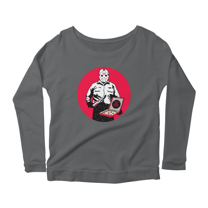 Jason's Pizza Women's Scoop Neck Longsleeve T-Shirt by darruda's Artist Shop
