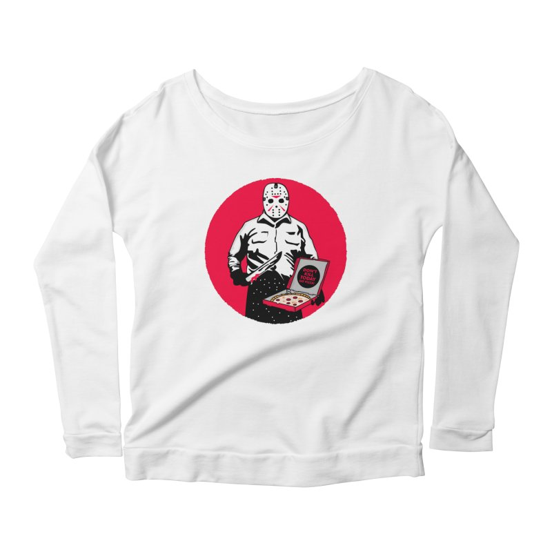 Jason's Pizza Women's Scoop Neck Longsleeve T-Shirt by darruda's Artist Shop