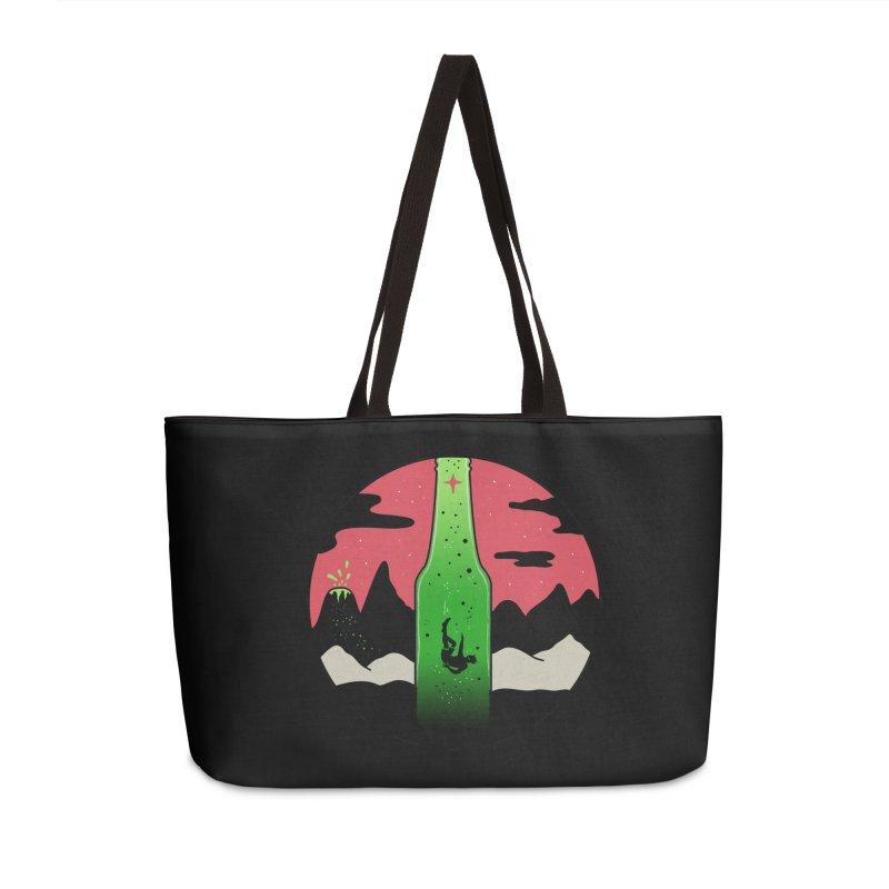 Green Experience Accessories Weekender Bag Bag by darruda's Artist Shop