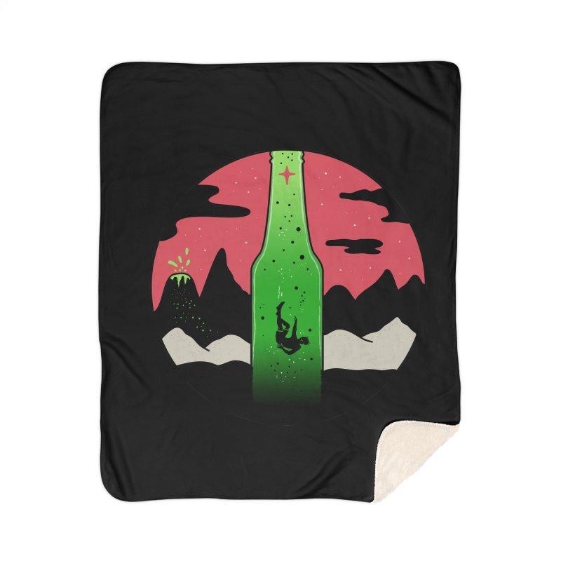 Green Experience Home Sherpa Blanket Blanket by darruda's Artist Shop