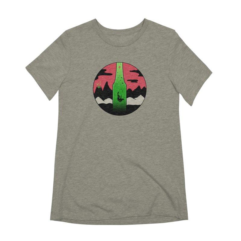 Green Experience Women's Extra Soft T-Shirt by darruda's Artist Shop