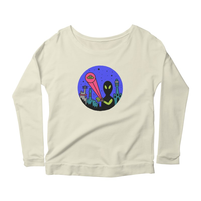 Calling Home Women's Scoop Neck Longsleeve T-Shirt by darruda's Artist Shop