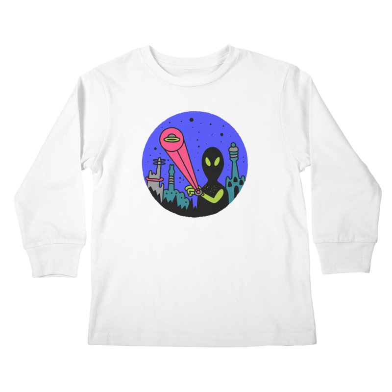 Calling Home Kids Longsleeve T-Shirt by darruda's Artist Shop