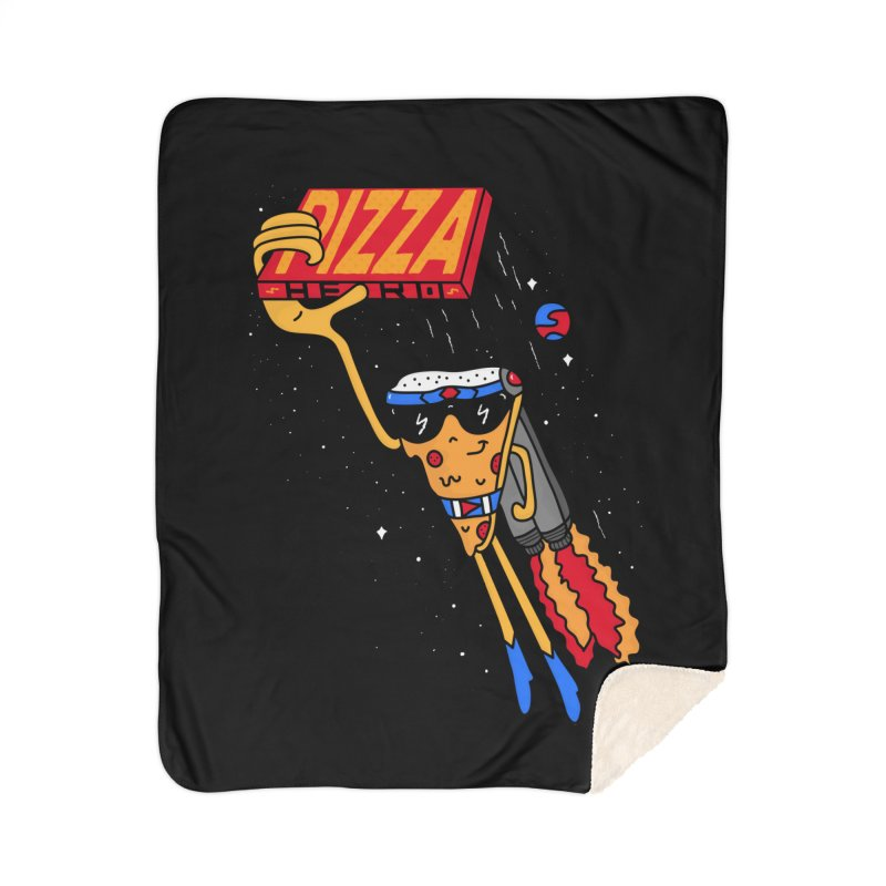Pizza Hero Home Sherpa Blanket Blanket by darruda's Artist Shop
