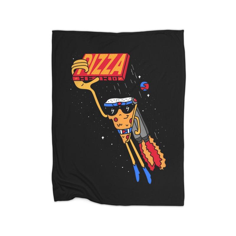 Pizza Hero Home Fleece Blanket Blanket by darruda's Artist Shop