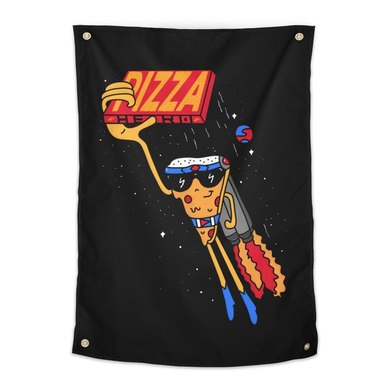 Pizza Hero Home Tapestry by darruda's Artist Shop