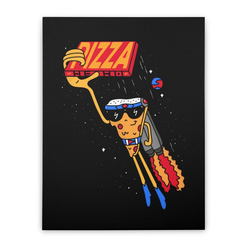 Pizza Hero Home Stretched Canvas by darruda's Artist Shop