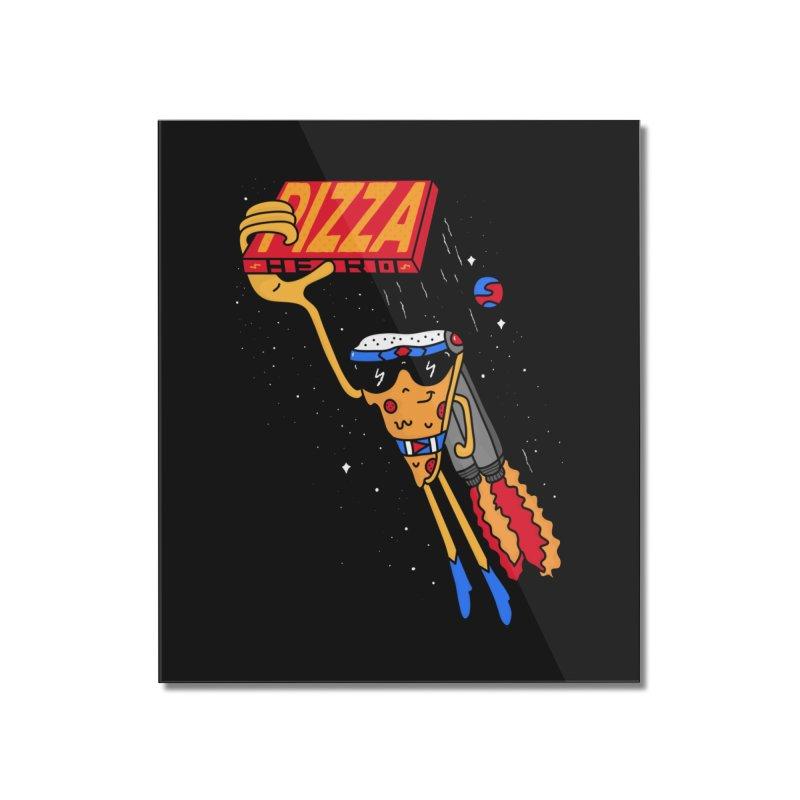 Pizza Hero Home Mounted Acrylic Print by darruda's Artist Shop