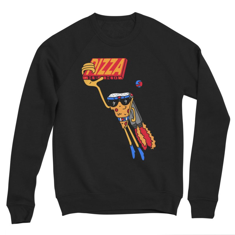 Pizza Hero Men's Sponge Fleece Sweatshirt by darruda's Artist Shop