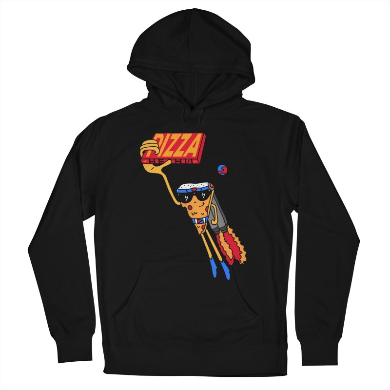 Pizza Hero Men's French Terry Pullover Hoody by darruda's Artist Shop
