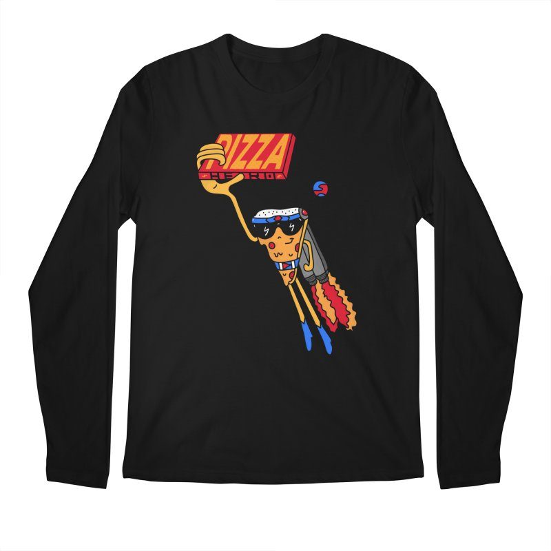 Pizza Hero Men's Regular Longsleeve T-Shirt by darruda's Artist Shop