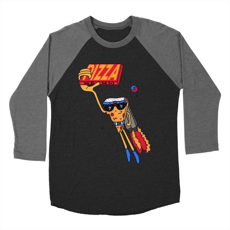 Pizza Hero Men's Baseball Triblend Longsleeve T-Shirt by darruda's Artist Shop