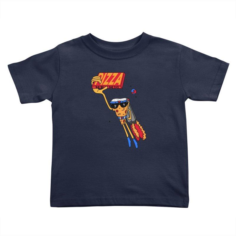 Pizza Hero Kids Toddler T-Shirt by darruda's Artist Shop