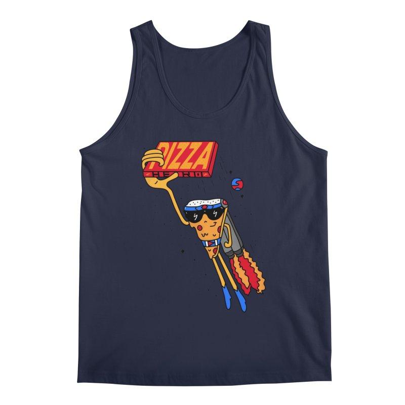 Pizza Hero Men's Regular Tank by darruda's Artist Shop