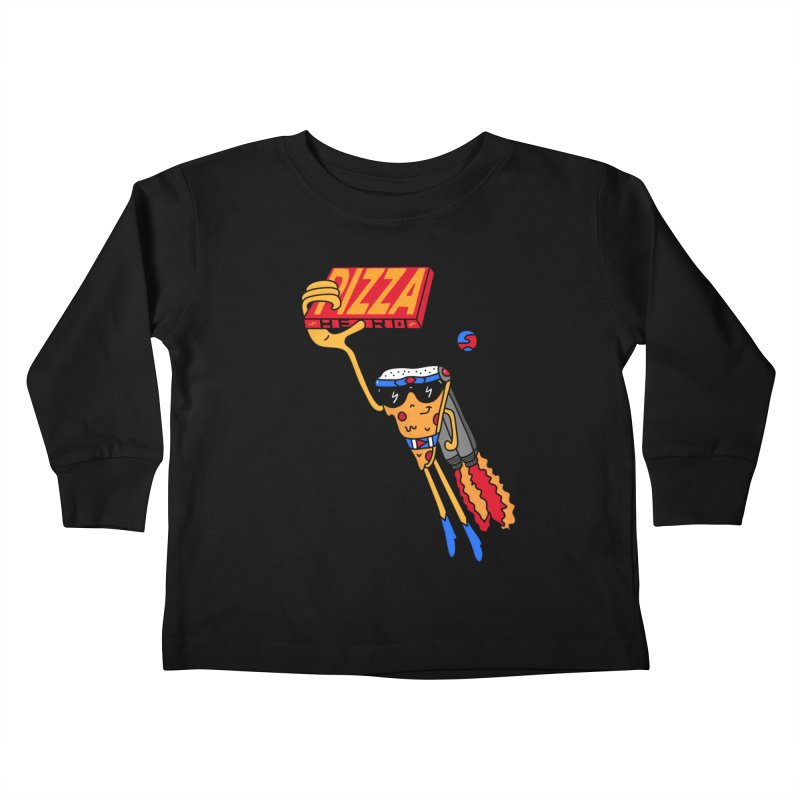 Pizza Hero Kids Toddler Longsleeve T-Shirt by darruda's Artist Shop