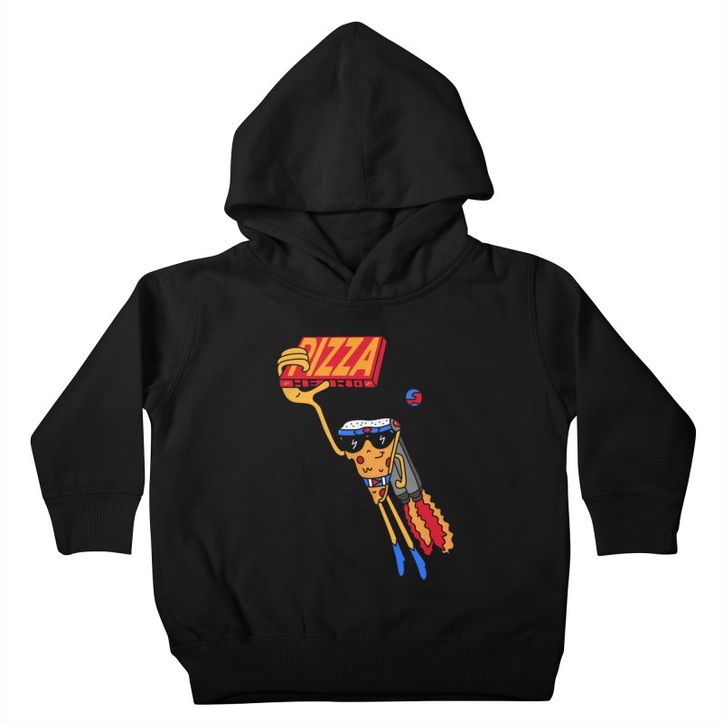 Pizza Hero Kids Toddler Pullover Hoody by darruda's Artist Shop