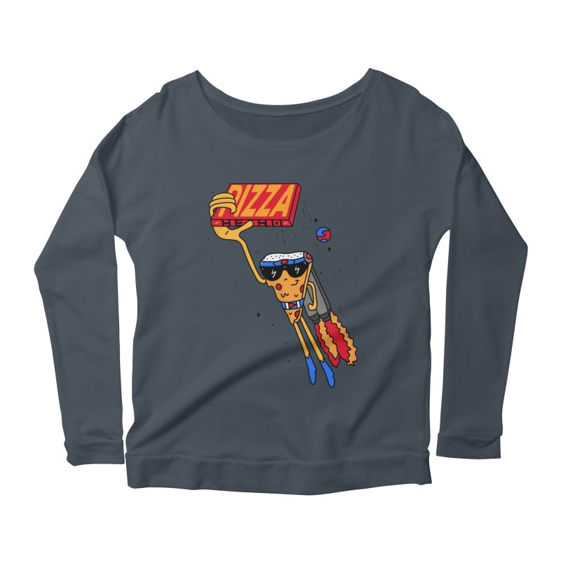 Pizza Hero Women's Scoop Neck Longsleeve T-Shirt by darruda's Artist Shop