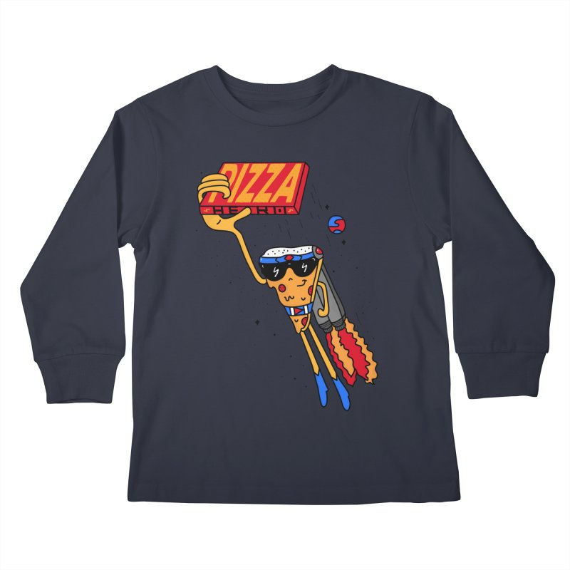 Pizza Hero Kids Longsleeve T-Shirt by darruda's Artist Shop