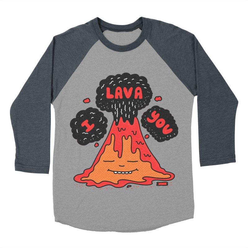 I Lava You Men's Baseball Triblend Longsleeve T-Shirt by darruda's Artist Shop