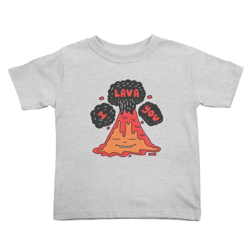 I Lava You Kids Toddler T-Shirt by darruda's Artist Shop