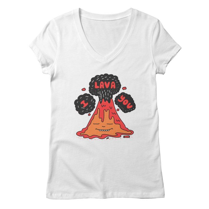 I Lava You Women's Regular V-Neck by darruda's Artist Shop