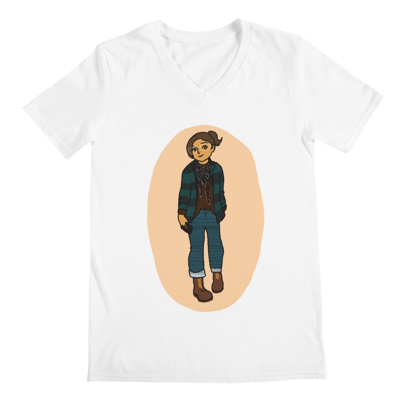 Oufit of the Day Men's V-Neck by dasiavou's Artist Shop