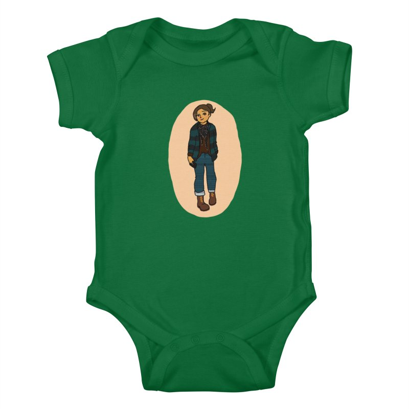 Oufit of the Day Kids Baby Bodysuit by dasiavou's Artist Shop