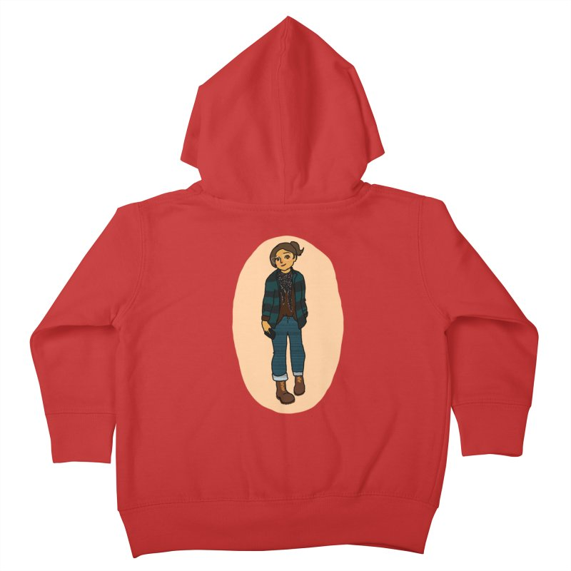 Oufit of the Day Kids Toddler Zip-Up Hoody by dasiavou's Artist Shop