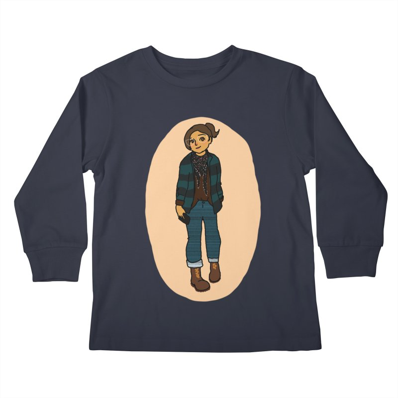 Oufit of the Day Kids Longsleeve T-Shirt by dasiavou's Artist Shop