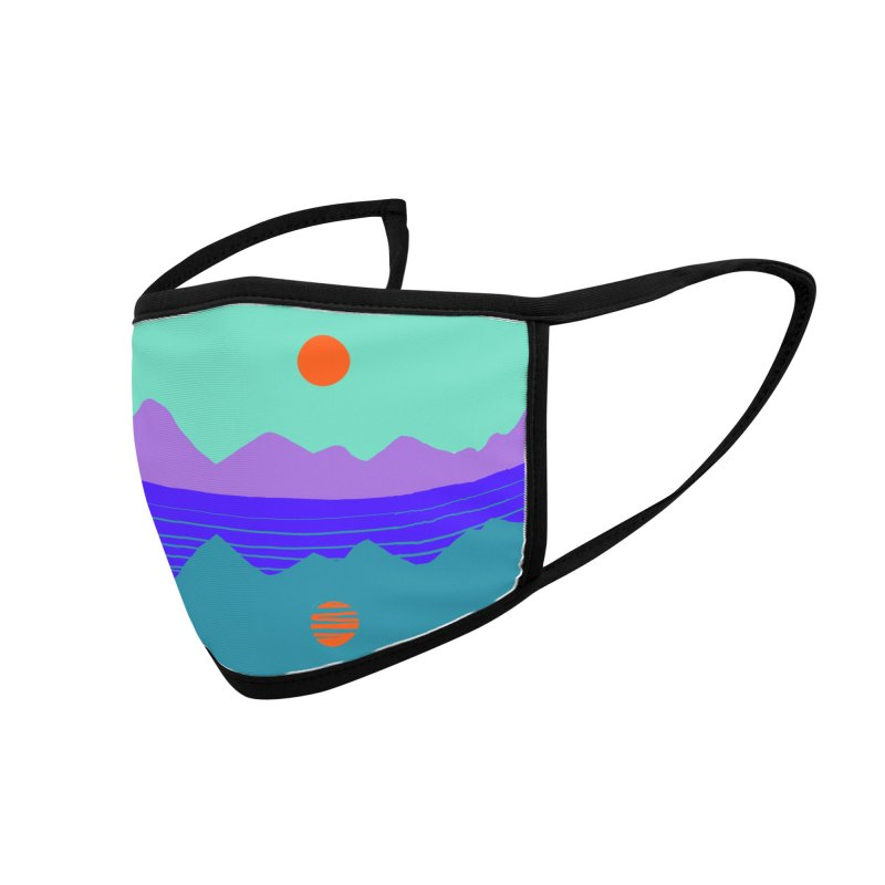 California Summer Sunset Accessories Face Mask by dasiavou's Artist Shop