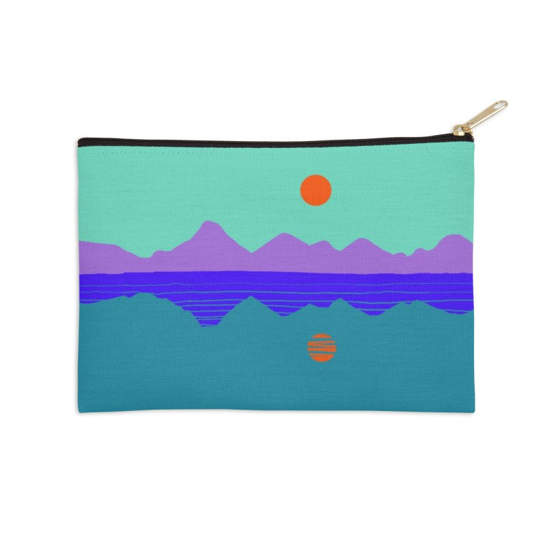 California Summer Sunset Accessories Zip Pouch by dasiavou's Artist Shop