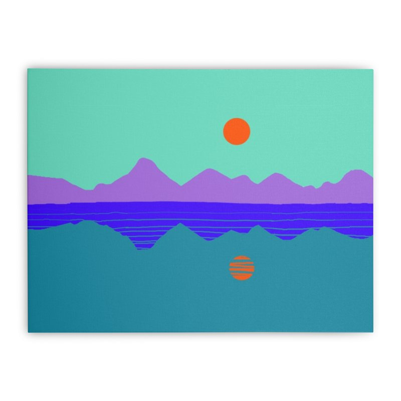 California Summer Sunset Home Stretched Canvas by dasiavou's Artist Shop