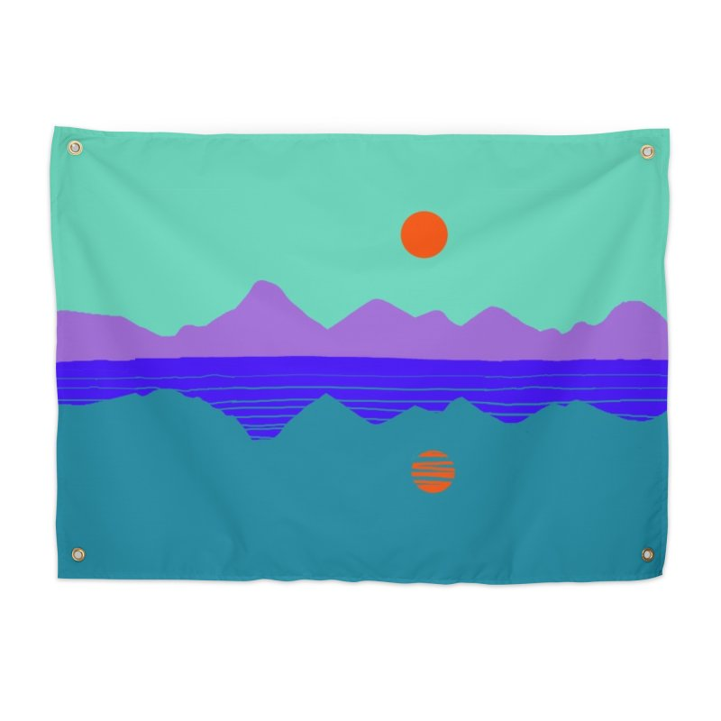 California Summer Sunset Home Tapestry by dasiavou's Artist Shop