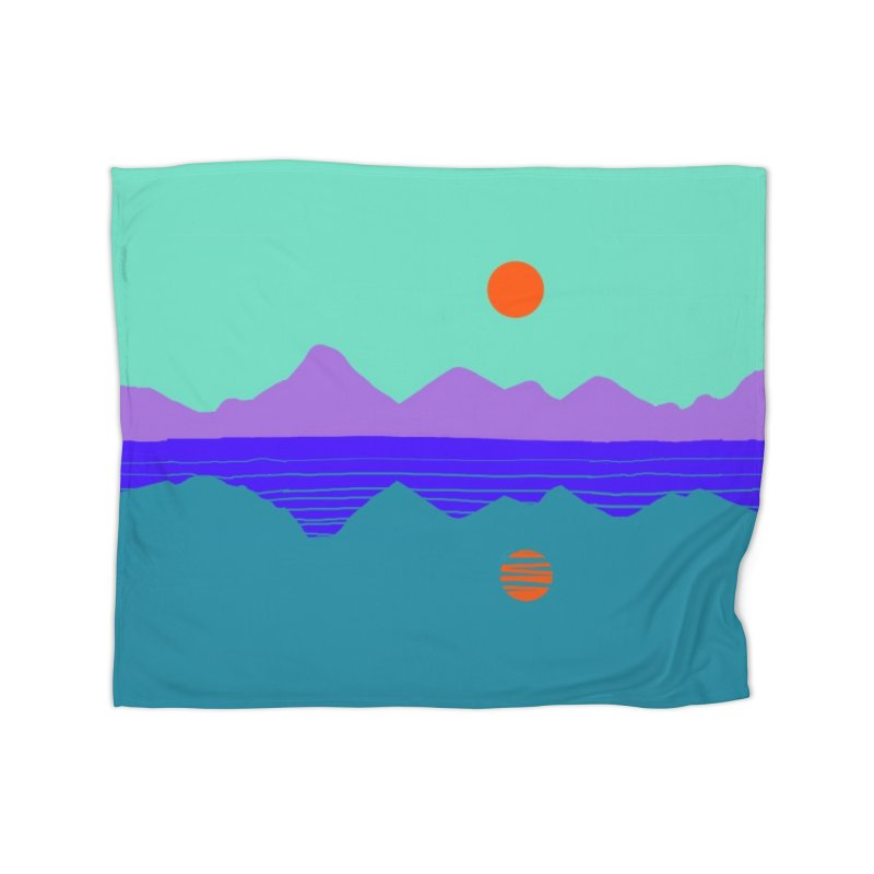 California Summer Sunset Home Blanket by dasiavou's Artist Shop