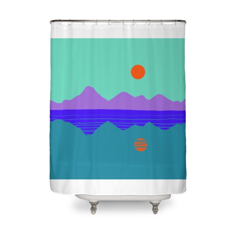 California Summer Sunset Home Shower Curtain by dasiavou's Artist Shop