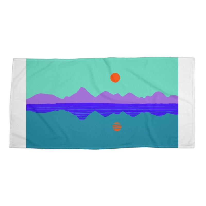 California Summer Sunset Accessories Beach Towel by dasiavou's Artist Shop
