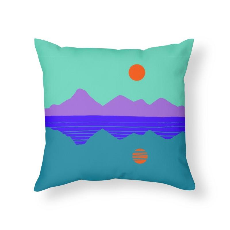 California Summer Sunset Home Throw Pillow by dasiavou's Artist Shop