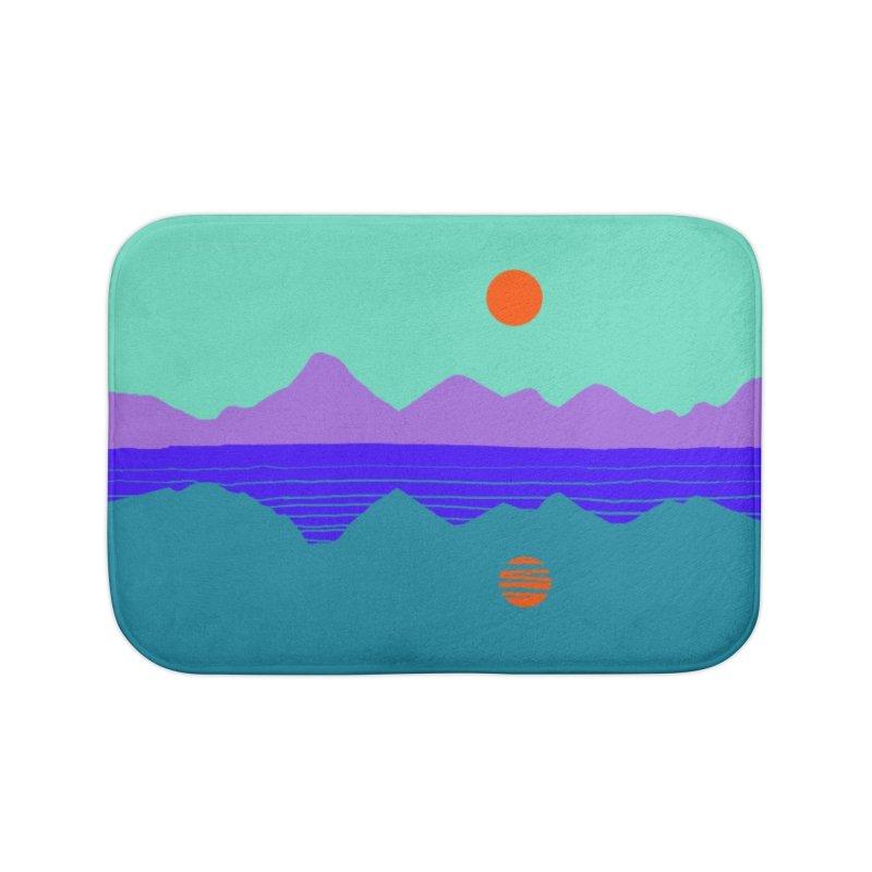 California Summer Sunset Home Bath Mat by dasiavou's Artist Shop