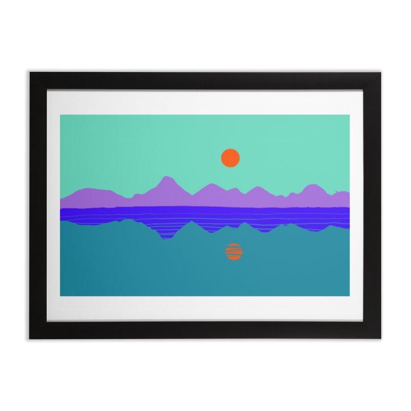 California Summer Sunset Home Framed Fine Art Print by dasiavou's Artist Shop