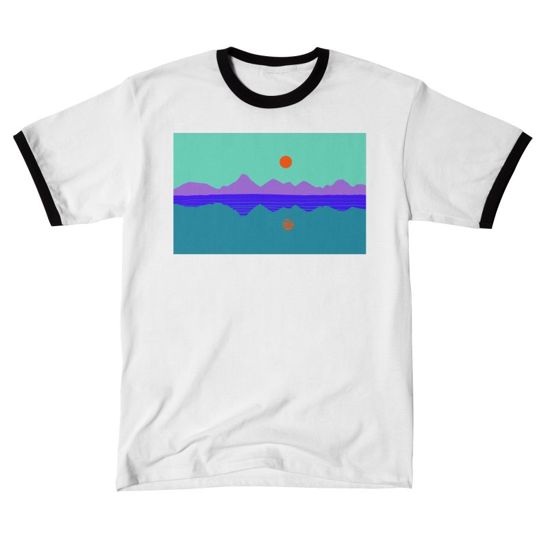 California Summer Sunset Men's T-Shirt by dasiavou's Artist Shop