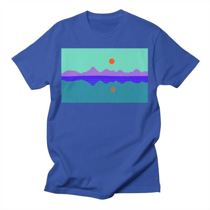 California Summer Sunset Men's T-Shirt by dasiavou's Artist Shop