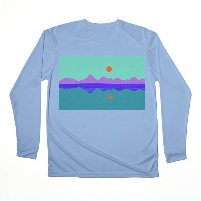 California Summer Sunset Men's Longsleeve T-Shirt by dasiavou's Artist Shop