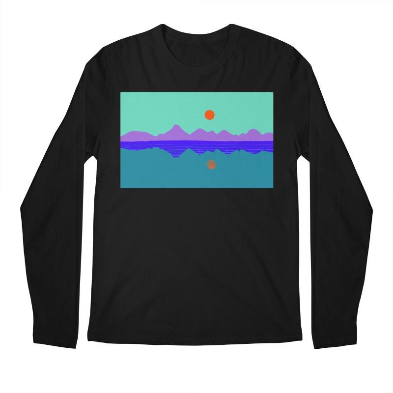 California Summer Sunset Men's Longsleeve T-Shirt by dasiavou's Artist Shop
