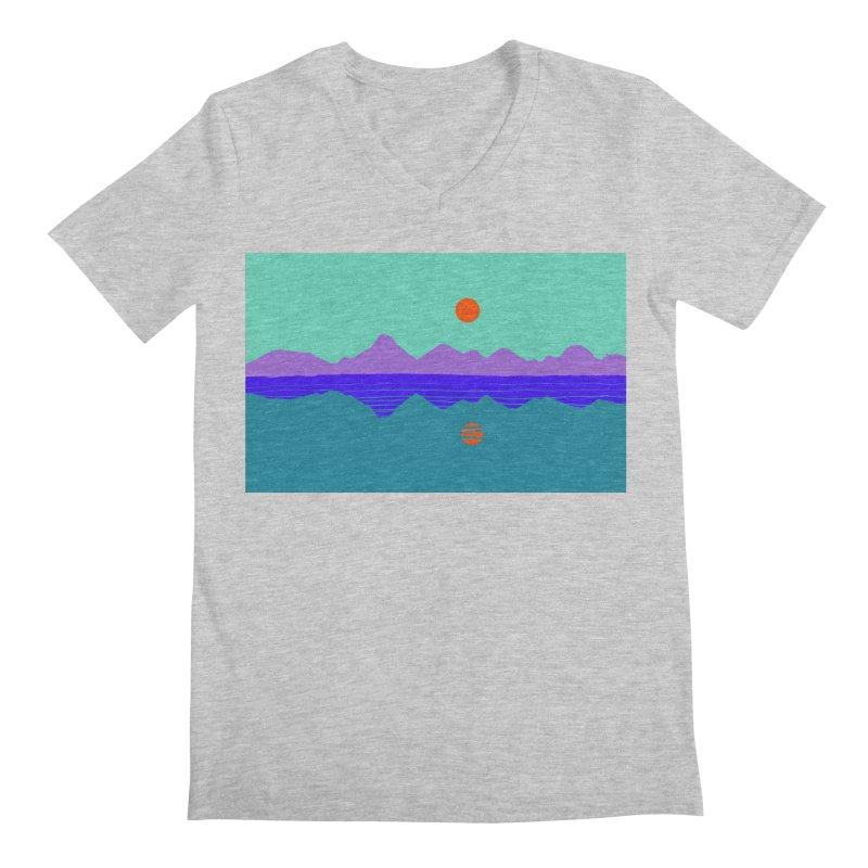 California Summer Sunset Men's V-Neck by dasiavou's Artist Shop